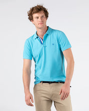 Load image into Gallery viewer, Polo Pique Short Sleeve Shirt - Light Turquoise