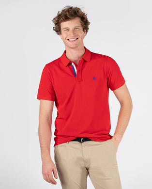 Polo Pique Short Sleeve Shirt - Red