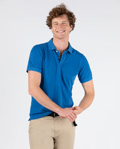 Polo Pique Short Sleeve Shirt - Blue