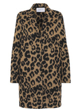 Load image into Gallery viewer, Cocoon Coat - Tan Leopard