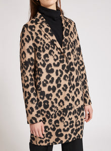 Cocoon Coat - Tan Leopard