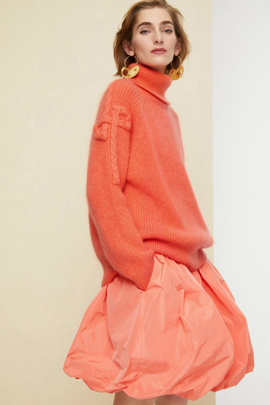 Turtleneck Jumper - Coral
