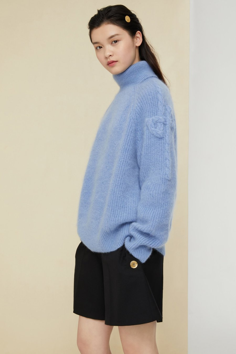 Turtleneck Jumper - Blueberry