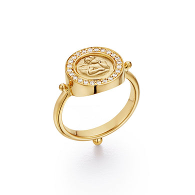 18K Angel Pavé Ring