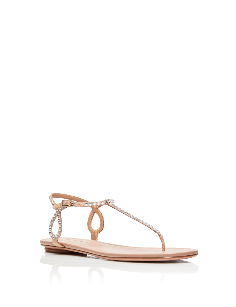 Almost Bare Crystal Sandals - Powder Pink