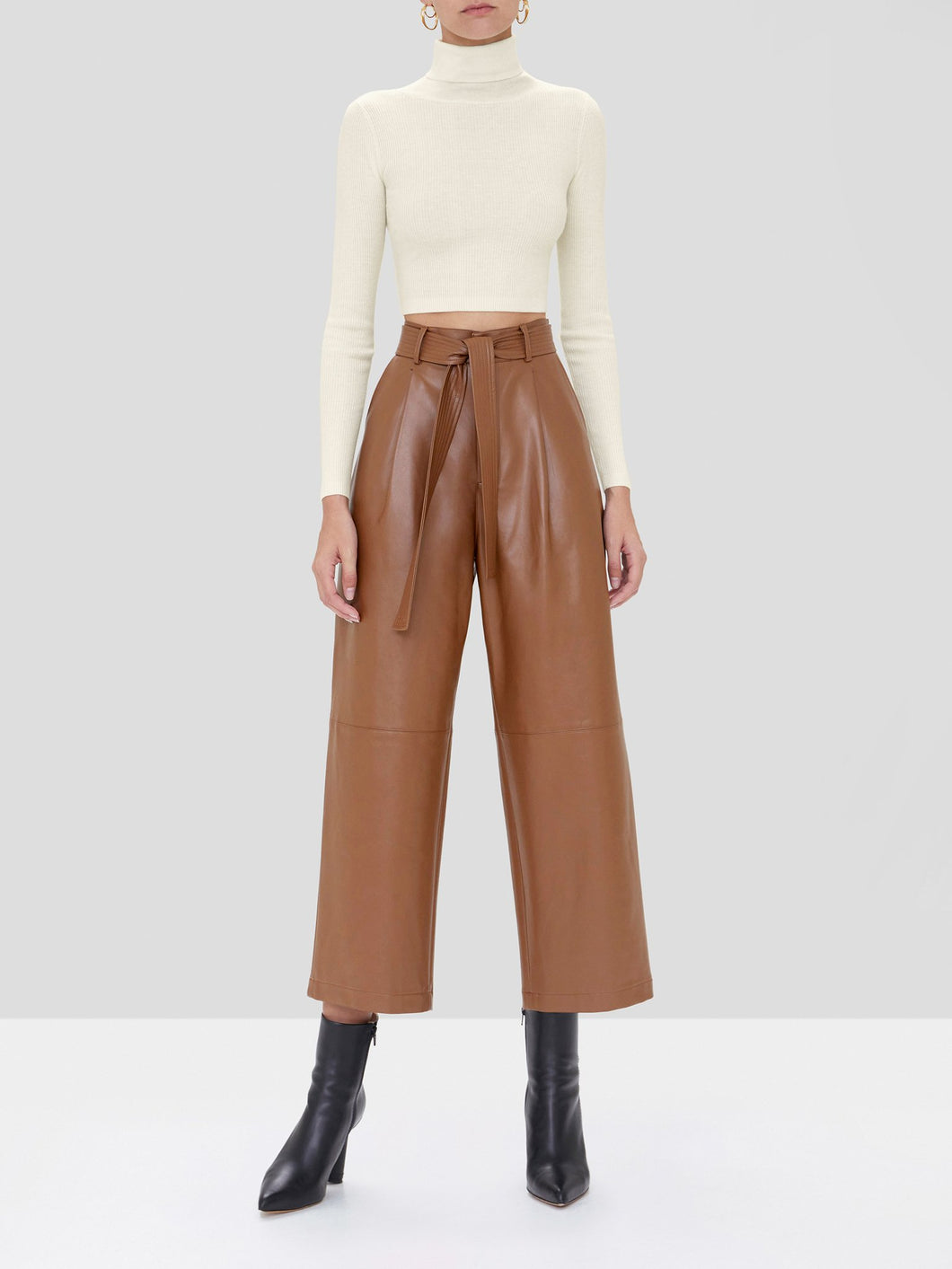 Roy Vegan Leather Pant - Aragon Brown