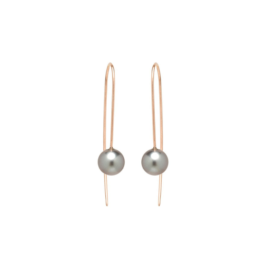 14K Tahitian Pearl Wire Earrings