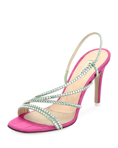 Baby Strappy Pumps - Pink/Green