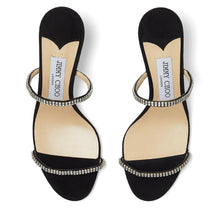 Load image into Gallery viewer, Brea Crystal Sandal 65mm - Black