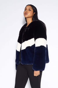 Brigitte Jacket - Black/Ivory/Navy