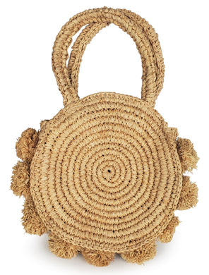 Halo Pom Pom Bag - Natural