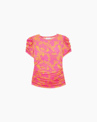 Chaia Top - Ikat Floral Print