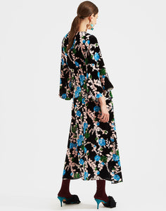 Velvet Sable Sorella Dress - Winter Rose Nero