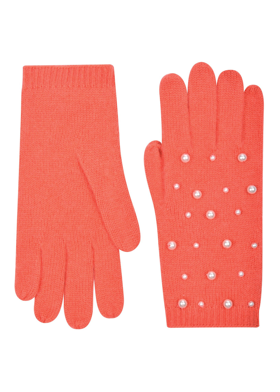 Pearl Scattered Gloves - Coral