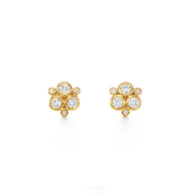18K Gold Classic Trio Earring - Diamond