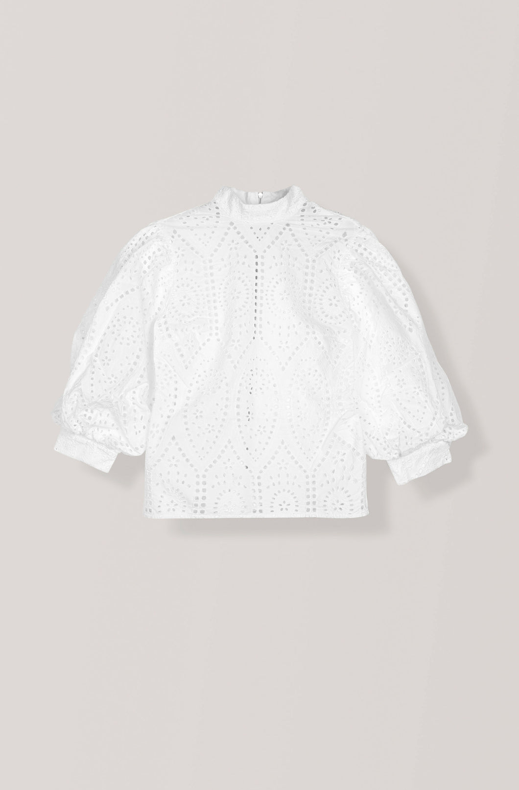 Broderie Anglaise Falcon Blouse -Bright White