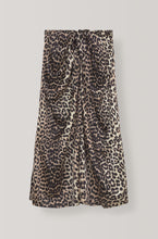 Load image into Gallery viewer, Silk Stretch Skirt - Leopard