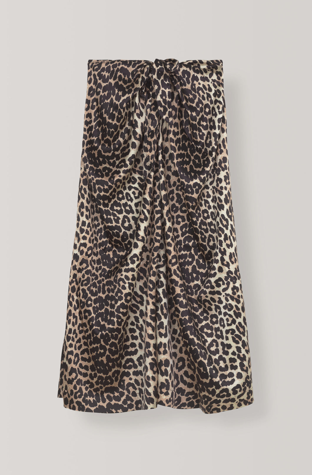 Silk Stretch Skirt - Leopard