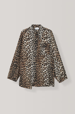Silk Mix Shirt - Leopard