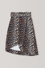 Load image into Gallery viewer, Wrap Skirt - Denim Leopard