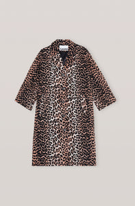 Linen Canvas Coat - Leopard