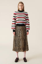 Load image into Gallery viewer, Printed Georgette Skirt - Leopard