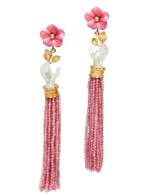 Bloom Earring - Pearl/Rose