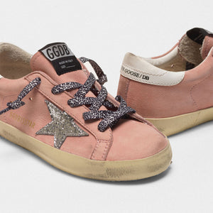 Toddler/Kids Superstar Sneaker - Pink/Glitter
