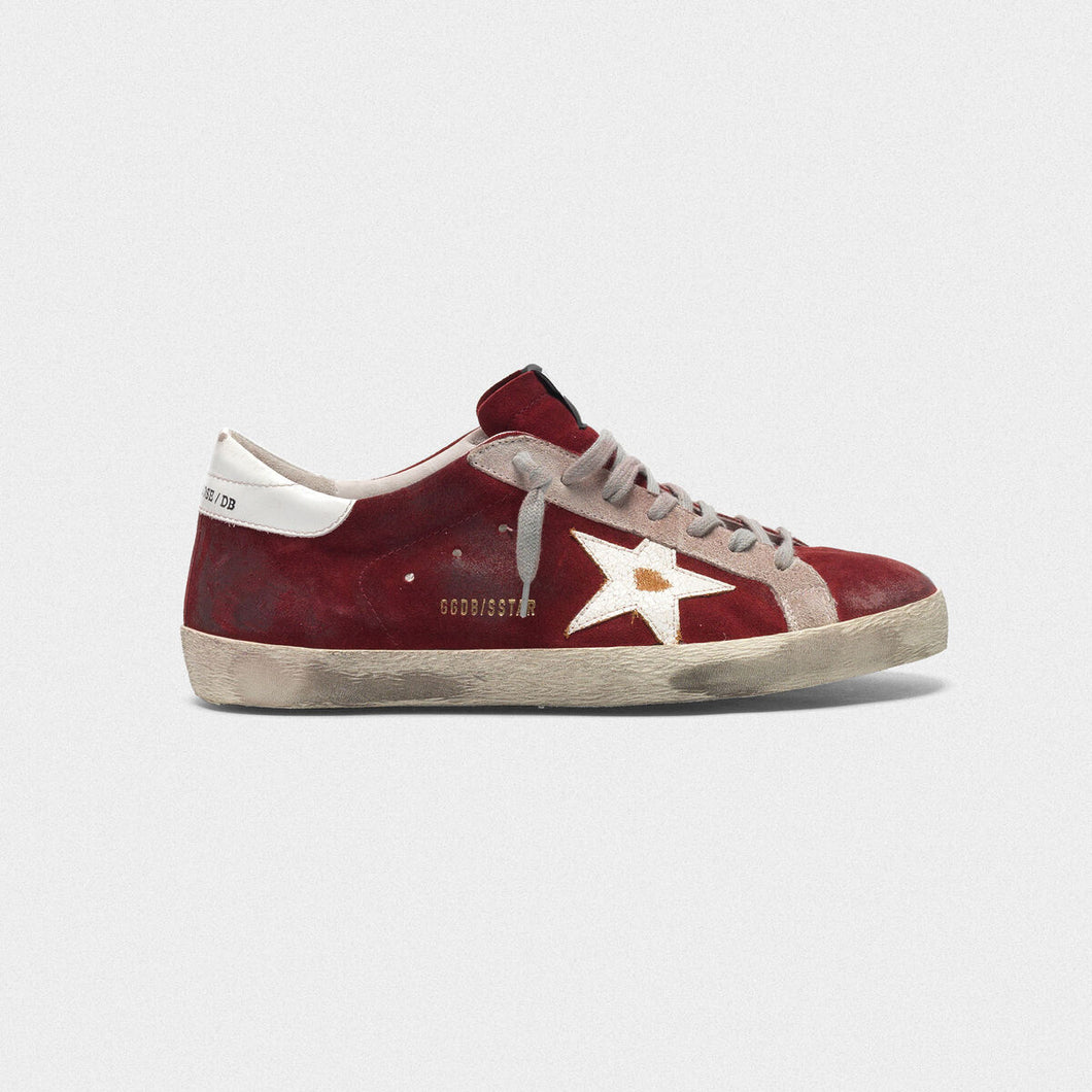 Men's Superstar Sneaker - Burgundy Suede