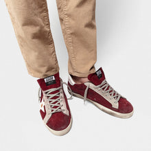 Load image into Gallery viewer, Men's Superstar Sneaker - Burgundy Suede