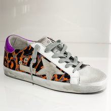 Load image into Gallery viewer, Superstar Sneaker - Orange/Purple/Leopard Multi