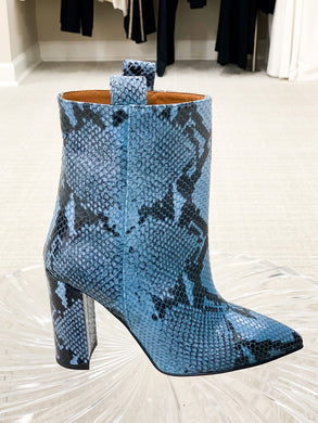 Snake Ankle Boot 100mm - Blue