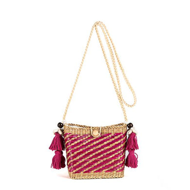 Maxime Basket Bag - Pink