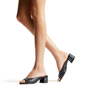 Jynx Crystal Sandal 45mm - Black