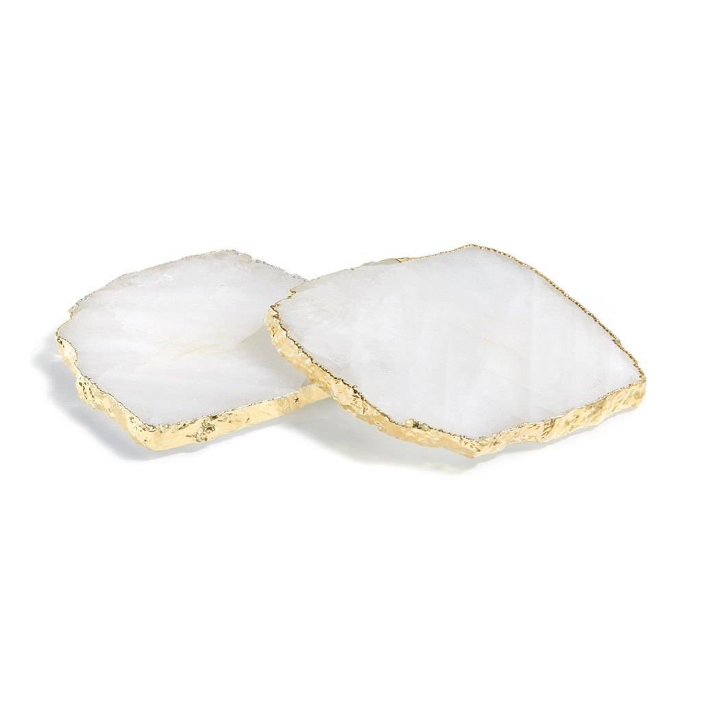 Kivita Coasters (2) - Crystal/Gold