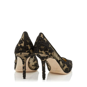 Love Pump 85 mm - Black Floral