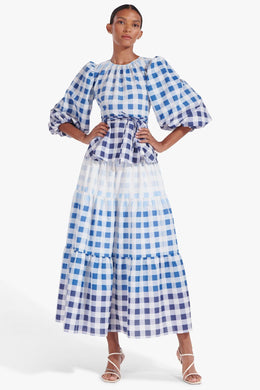 Laurence Top - Ombre Blue Gingham
