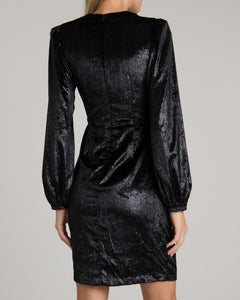 Liquid Velvet Dress - Black