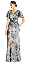 Load image into Gallery viewer, Velvet Gown - Gunmetal