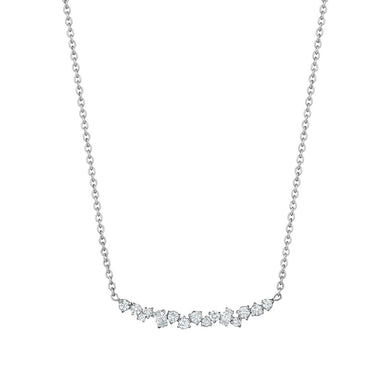 Stardust Cluster Necklace - White Gold