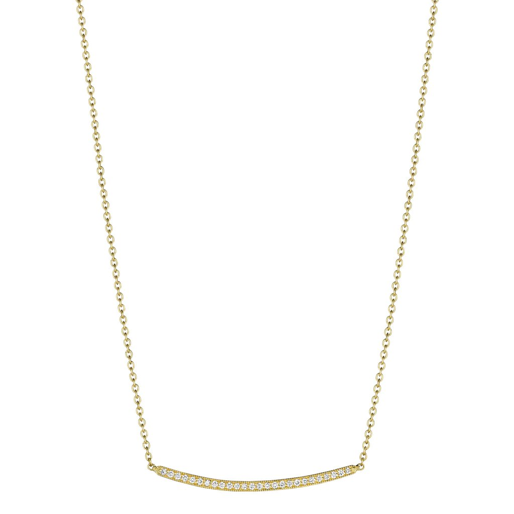 Petite Forever Bar Necklace - Yellow Gold