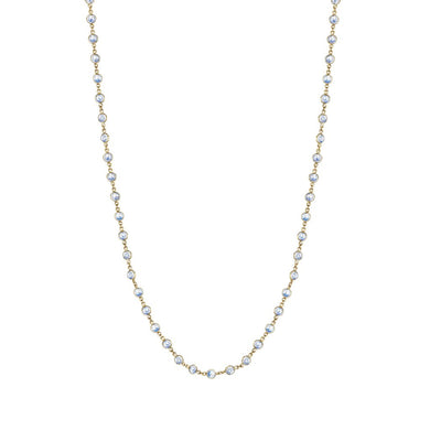 34'' Moonstone Chain - Yellow Gold