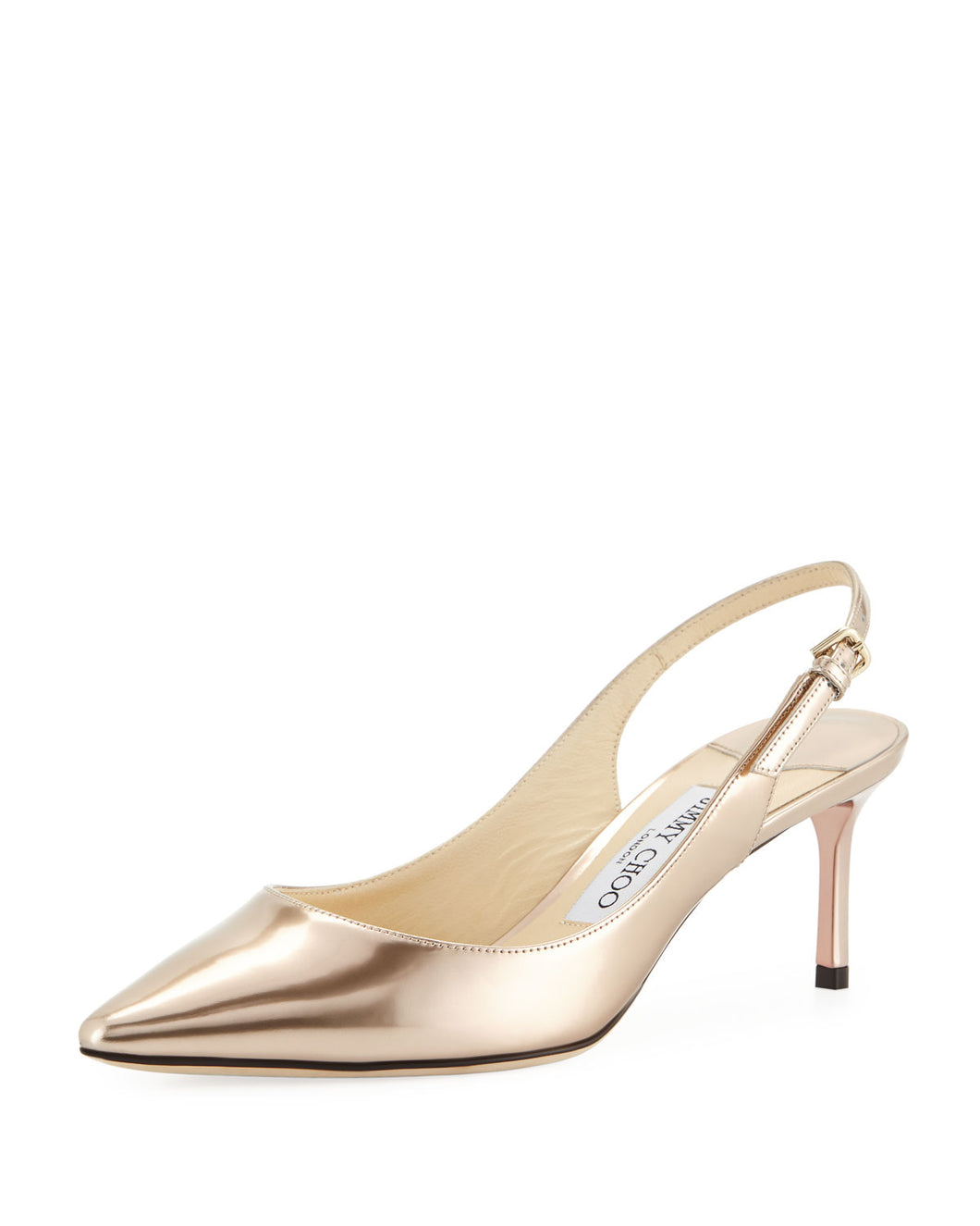 Erin Liquid Metallic Slingback 60mm Pumps - Ballet Pink