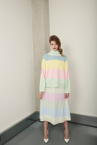 Clemmie Stripe Sweater - Pastel