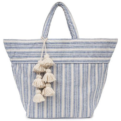 Sabai Small Beach Bag - Indigo