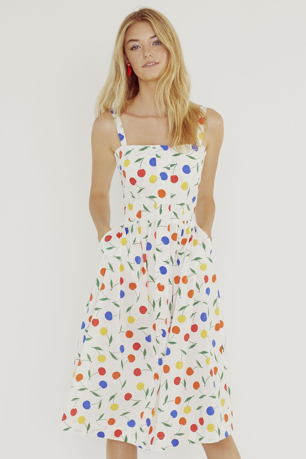 Laura Dress- Rainbow Cherry