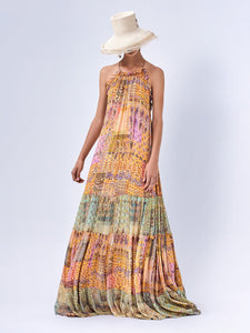 Rosaline Dress - Sunset Paisley