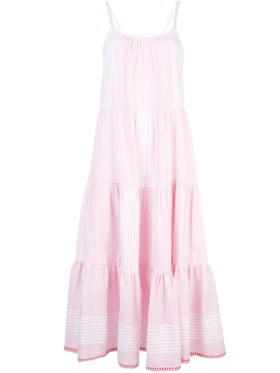 Rekik Cascade Dress - Misty Rose