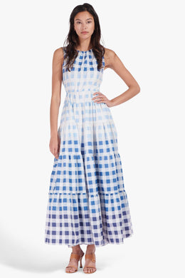 Riviera Dress - Ombre Blue Gingham