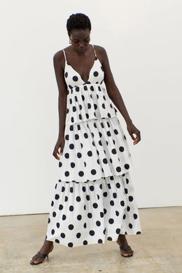 Bari Dress - Black Dot